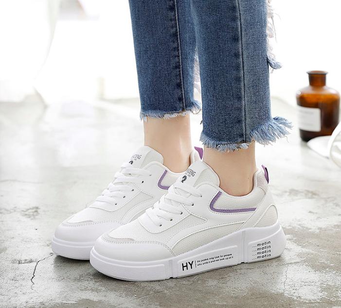 Кроссовки женские Look Белые с фиолетовым