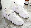 Кроссовки женские Look Белые с фиолетовым, фото 6