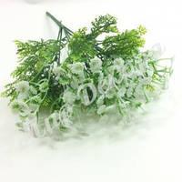 Букет гипсофила с аспарагусом, белый, 30 см, фото 1