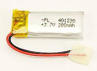 Литий-полимерный аккумулятор Li-pol 401230, 280mAh 3.7V 1 шт.