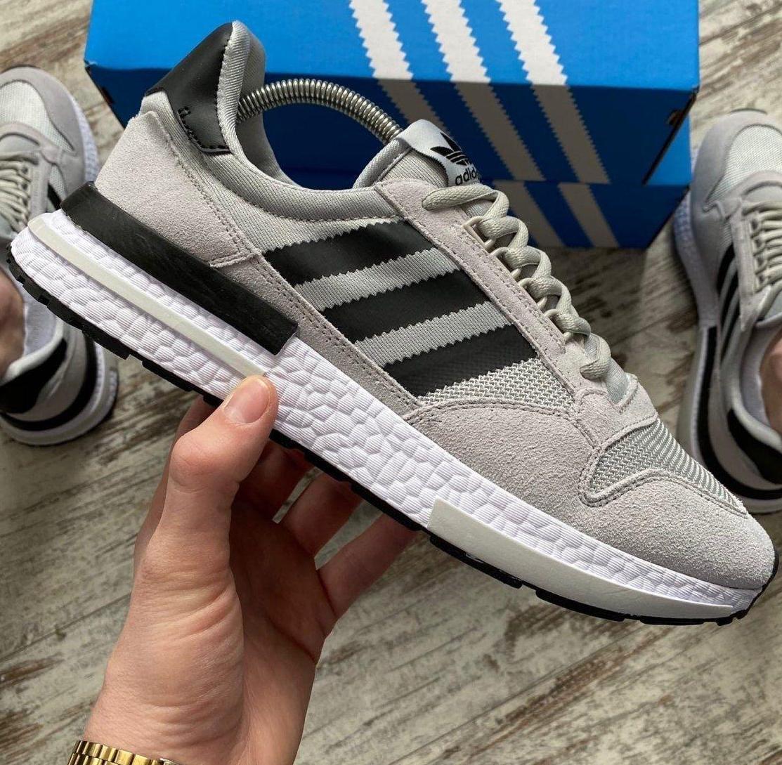 Мужские кроссовки Adidas ZX 500 RM Grey, адидас зх 500