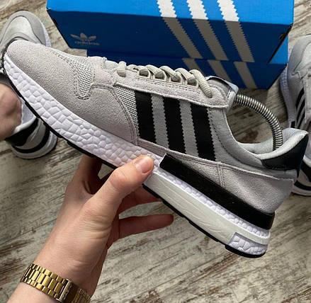 Мужские кроссовки Adidas ZX 500 RM Grey, адидас зх 500, фото 2