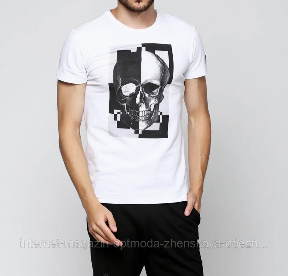 """Белая мужская футболка с черепом """"Мэтт"""""""