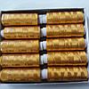 Нитки шовкові насичені золоті