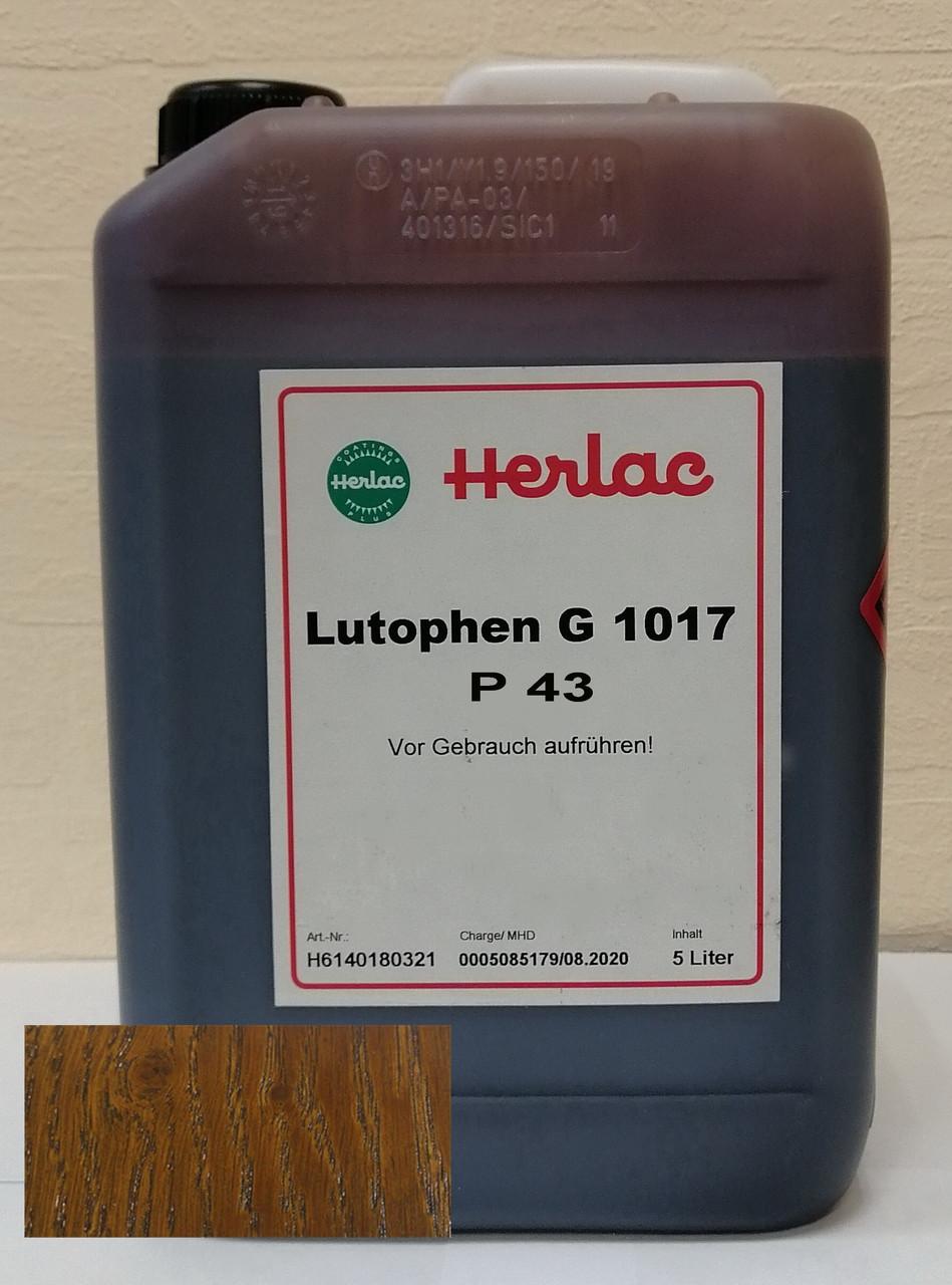Лютофен Р43 (бейц, морилка, пропитка, краситель, нитрокраситель)  Дуб 5 л Herlac, Германия