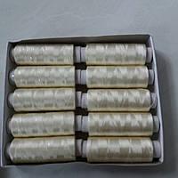 Нитки шелковые кремовые