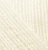Турецкая пряжа Alize Superlana Klasik для ручного вязания полушерсть молочный №62
