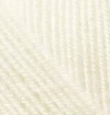 Турецкая пряжа Alize Superlana Klasik для ручного вязания полушерсть кремовый №1