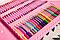 Большой детский набор для рисования Super Art Set, 208 предметов, с креплениями, два цвета, фото 2