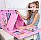 Большой детский набор для рисования Super Art Set, 208 предметов, с креплениями, два цвета, фото 6