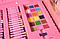 Большой детский набор для рисования Super Art Set, 208 предметов, с креплениями, два цвета, фото 5