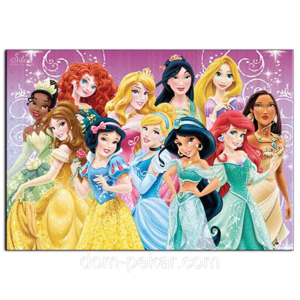 Принцессы 4 вафельная картинка