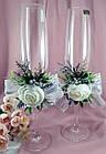 Свадебные бокалы ручная работа, фото 2