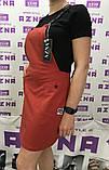 Річний комплект-двійка:сарафан і футболка чорно-кармін. Літній костюм-двійка:сарафан та футболка., фото 2
