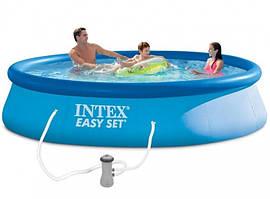 Бассейн надувной Intex Easy Set 28142 семейный 396*84 см круглый