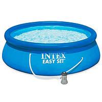 Басейн надувний Intex Easy Set 28142 сімейний 396*84 см круглий, фото 1