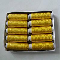 Нитки шовкові жовте золото