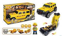 Детская машина внедорожник - гараж 660 А-255 желтый с световыми и звуковыми эффектами