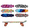 Скейтборд детский с принтом 68х19см светящиеся колеса GSK-0001