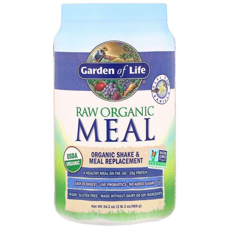 Garden of Life, RAW Organic Meal, Shake & Meal Replacement, Vanilla,  Растительня смесь, 969 г