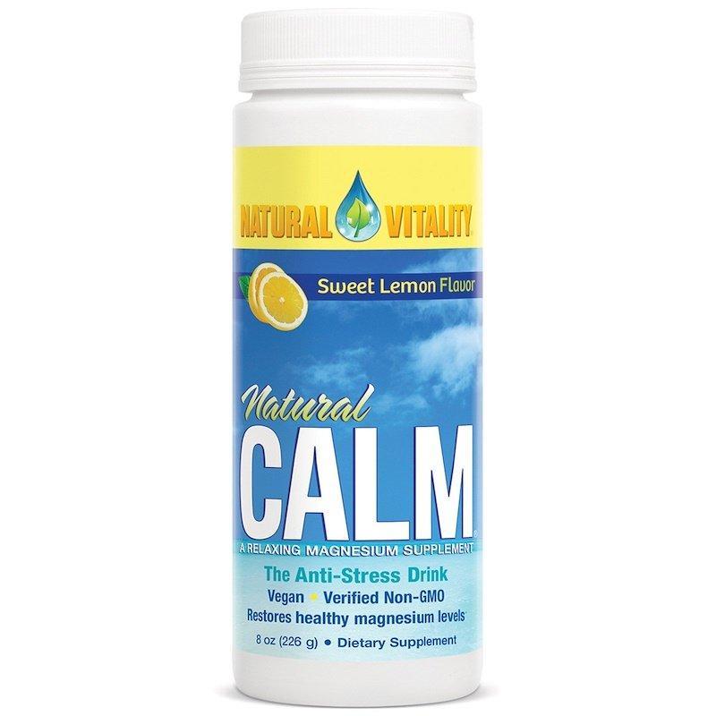 Natural Vitality, Natural Calm, антистрессовый напиток со вкусом органического сладкого лимона, 226 г (8 унций)