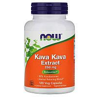 Now Foods, Kava Kava Extract, 250 мг, 120 растительных капсул