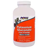 Now Foods, Порошок чистого глюконата калия, 454 г