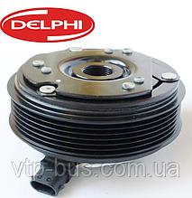 Электромагнитная муфта компрессора кондиционера на Renault Trafic 1.9 / 2.5dCi с (2001-2006) Delphi - 01650180