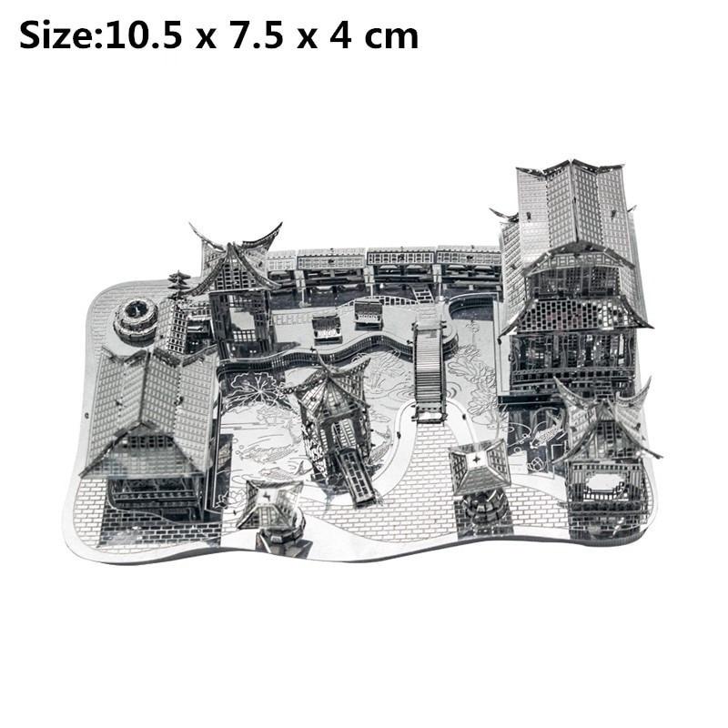 Металева Головоломка 3Д конструктор будівлі