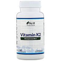Nu U Nutrition, ВитаминK2, 365растительных таблеток