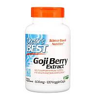 Doctor's Best, Экстракт ягод годжи, 600 мг, 120 вегетарианских капсул