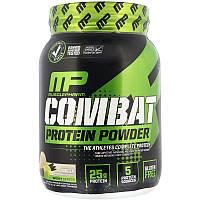 MusclePharm, Combat Protein Powder, белковый порошок со вкусом ванили, 907 г (2 фунта)