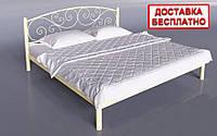 Кровать металлическая двуспальная Лилия