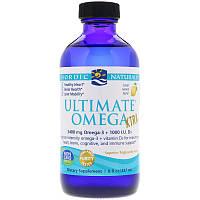 Nordic Naturals, Ultimate Omega Xtra, Рыбий жир Омега-3, лимон, 237 мл