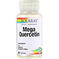 Solaray, Мега-кверцетин, 60 растительных капсул