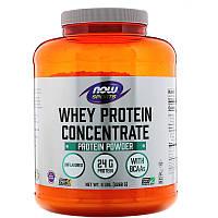 Now Foods, Sports, концентрат сывороточного протеина, без добавок, 2268 г