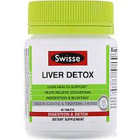 Swisse, Ultiboost, добавка для очищения печени, 60 таблеток