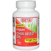 Deva, Масло из семян чиа, 90 капсул на растительной основе