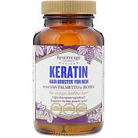 ReserveAge Nutrition, Кератиновое усиление для волос для мужчин, 60 капсул