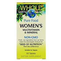 Natural Factors, Пищевая добавка 'Непочатое море и земля', мультивитаминный и минеральный комплекс для женщин, 60 таблеток