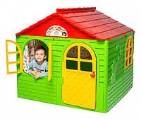 Детский игровой пластиковый домик со шторками ТМ Doloni (средний) 02550/3