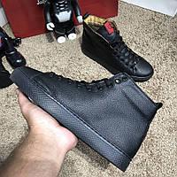 Ботинки Gucci High Top Sneaker Black