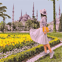 "Картина по номерам ""Ярмарка цветов"", 30х30 см, 5*"