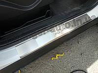 Накладки на пороги Ford Kuga II 2013-2019 (Nata-Niko), фото 1