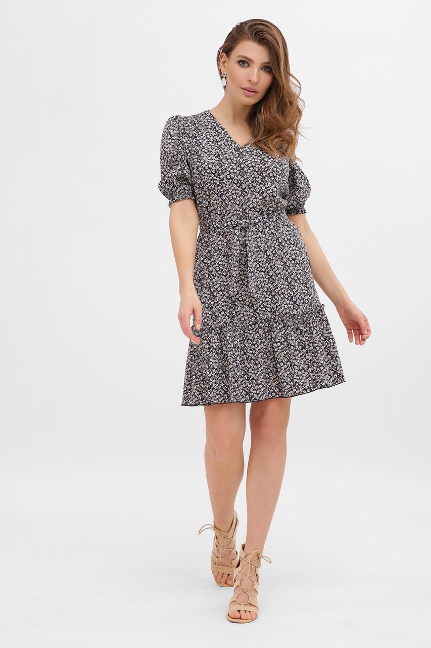 GLEM летнее платье с мелкими цветами Мальвина к/р