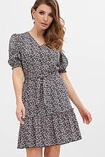 GLEM летнее платье с мелкими цветами Мальвина к/р, фото 3