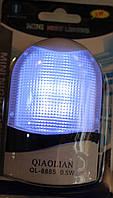 Ночник на светодиодах белый с выключателем