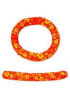Набор для дайвинга (кольцо, штанга) Delta-Sport 19см Рыжий, Желтый