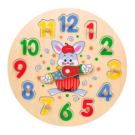 Набор для обучения Viga Toys Часы-пазл (56171)
