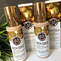 Тональная основа с золотыми пигментами Enough Rich Gold Double Wear Radiance Foundation SPF50+ PA+++ 100 мл